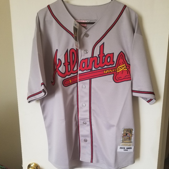 quality design 3e744 cd6c5 Deion Sanders Atlanta Braves Jersey